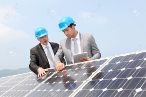 Engineers-checking-solar-panels-Consulting